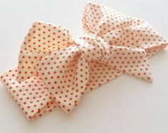 Baby girl headwrap Black Dotty by LavenderParade on Etsy