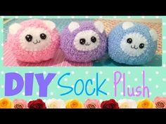 DIY fluffy/Pygmy puff sock plush Collab with SunnyDee! - YouTube