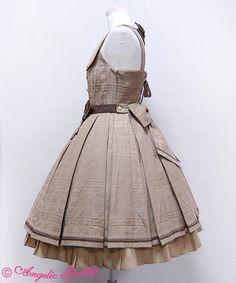 Melty Ribbon Chocolate襟付ジャンパースカート