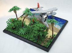 USN Curtiss SOC Seagull diorama #LEGO #MOC #plane