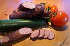 wędzone kiełbasy, domowa kiełbasa, domowe wyroby, Kielbasa, Polish Recipes, Chorizo, Charcuterie, Zucchini, Sausage, Meat, Vegetables, Cooking