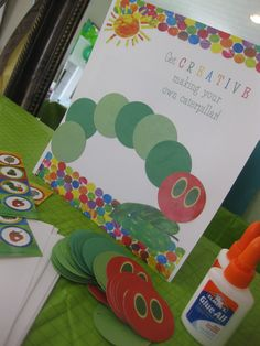 RESEARCH Very hungry caterpillar theme... it would be easy to create invites, party crafts & food relating to this theme