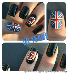 Rock 'n' Roll Rock N Roll, Rock Rock, Pastel Lips, Stone Nail Art, Nail Art Photos, London Nails, Painted Nail Art, Nail Envy, Nail Decals