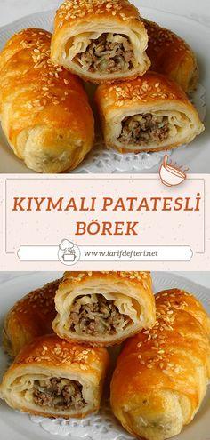 Turkish Kitchen, Cheesesteak, Hamburger, Cooking Recipes, Bread, Ethnic Recipes, Food, Recipe, Bakken