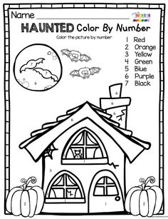 OCTOBER FUN WORKSHEETS math and literacy and writing