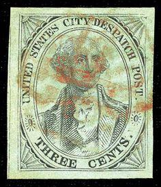 U. S. City Despatch Post, Scott No. 6lB5d, issued 1843-1844
