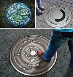 manhole cover designs http://dornob.com/3-innovative-alternatives-to-conventional-manhole-covers/#