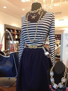 Charming Charlie nautical look. Love it for spring!