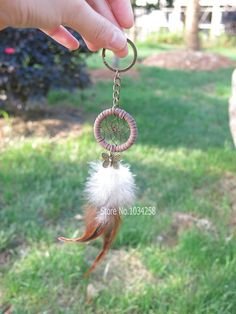 Fashion feather dream catcher keychain vintage by jangnarafashion