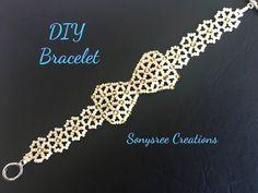 DIY Beaded Bow 🎀 Bracelet - YouTube