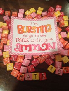 Ways to ask to a dance!