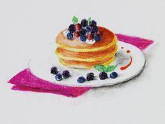 Pancake Pastel Drawing パンケーキの描き方(パステル)