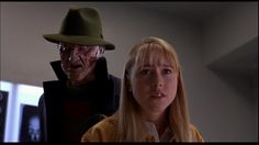 Robert Englund and Tracy Middendorf in Wes Craven's New Nightmare New Nightmare, Nightmare On Elm Street, Freddy's Nightmares, Wes Craven, Robert Englund, Classic Horror Movies, Freddy Krueger, Good Movies, Celebrities