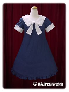 Baby, the stars shine bright Sailor one piece dress blouse with ribbon tie