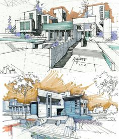 Interesting Find A Career In Architecture Ideas. Admirable Find A Career In Architecture Ideas. Architecture Concept Drawings, Architecture Sketchbook, Architecture Graphics, Architecture Details, Architecture Design, Classical Architecture, Architecture Presentation Board, Presentation Layout, Interior Design Sketches