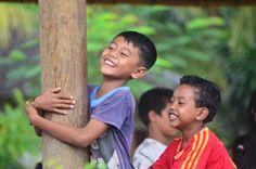 Children at Bali Volunteering program near Ubud.