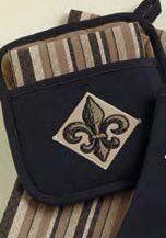 Fleur de Lis Potholder & Dish Towel Gift Set Design Imports http://www.amazon.com/dp/B00HWW1I1O/ref=cm_sw_r_pi_dp_yMfBub0SYA81J