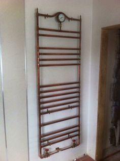 Vintage copper towel rail – Cute and Trend Towel Models Towel Heater, Steampunk Bathroom, Traditional Radiators, Towel Radiator, Copper Bathroom, Plumbing Problems, Towel Warmer, Pipe Furniture, Towel Rail