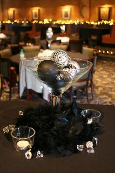 Chic Christmas Party or Perfect Christmas Wedding Centerpieces