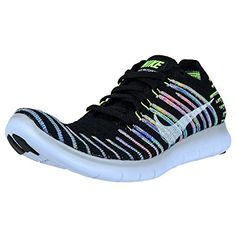 reputable site 6ce8c 5dc76 online shopping for NIKE Nike Women's Free Running Motion Flyknit Shoes,  Black/White-Volt-Blue Lagoon - 8 B(M) US from top store. See new offer for  NIKE ...