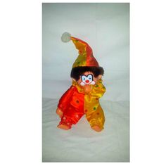 Vintage Thumb Sucking Clown Plushie,Monchhichi, Clown Plushie, Monchichi,Rubber Face, Plush, Monochichi, Thumbsucker,California by JunkYardBlonde on Etsy