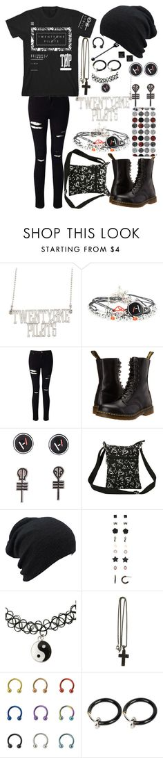 """Twenty One Pilots"" by legacy-sinister ❤ liked on Polyvore featuring Miss Selfridge, Dr. Martens and David Yurman"