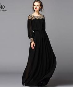 New 2015 Black Dress Sexy Fashion Women Luxury Beading Diamonds Floor Length Maxi Long Party Dresses