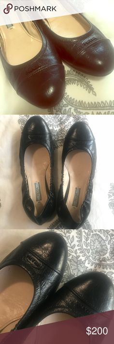 Prada Authentic Prada Ballet Flats, Excellent Condition! Marked 38.5 but definitely Best fit for a size 8. Only worn once or twice. My long skinny feet just don't like the ballerina style shoes. My search for black flats continues...  Only selling on Posh. No Trades. Price is Firm. Prada Shoes Flats & Loafers