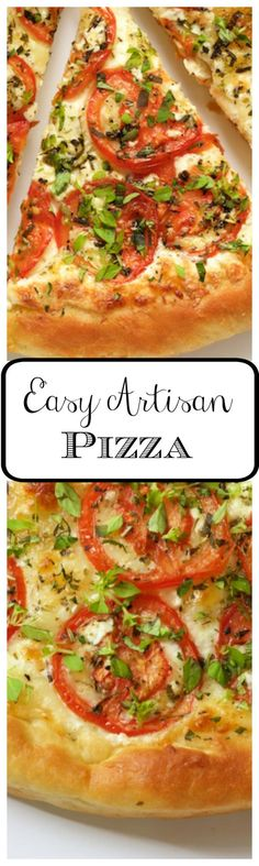 Easy Artisan Pizza - an amazingly delicious crust that's tender on the inside and crisp on the outside. With this crust, you can make a delicious, homemade pizza, start to finish, in less than an hour!
