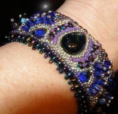 Beaded Embroidery Cuff by Linda Marino, via Flickr