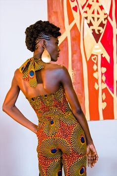 JACKIE B. jump suit in African wax I love it!