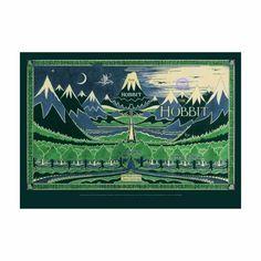 J.R.R. Tolkien's The Hobbit Dust-Jacket Poster Bodleian Shop