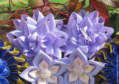 Простой цветочек из ленты