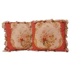 Check out this item at One Kings Lane! Antique French Aubusson Pillows, Pair