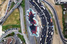 1010 paints a giant optical illusion in Paris | Pic | Gear