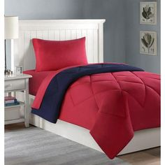 Find Black and Red Dorm Room In A Box and solve all your dorm bedding problems instantly.get it today at the Domestic Bin College Bedding Sets, Dorm Bedding Sets, Comforter Sets, College Comforter, Bedding Decor, Dorm Comforters, Beige Cushions, Dorm Essentials, Make Your Bed