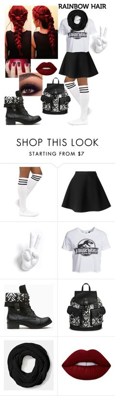 """""""Jurassic World"""" by doodles24 ❤ liked on Polyvore featuring MSGM, New Look, Under One Sky, Coach and Lime Crime"""