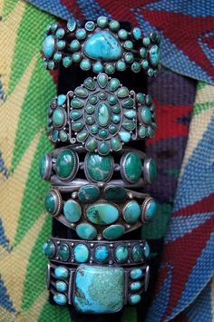 Native American Indian Turquoise Cuffs