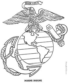 National guard coloring pages ~ United States Army Logo | Army National Guard Logo ...