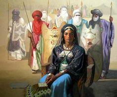 2 - La reine Tin Hinan, huile sur toile - Tuareg people - Wikipedia, the free encyclopedia African Empires, African History, Tuareg People, Islam, Art Academy, North Africa, Culture, Hinata, Fantasy Characters