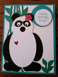 Punch art panda- Swirly Bird-Stampin up