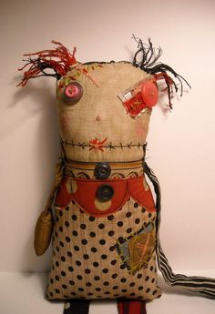 Monster Ragdoll Drucilla | Art Doll by Junker Jane