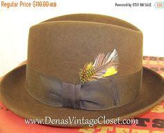 312716609cb 60% OFF Black Friday Sale Men s Vintage Stetson Sovereign Felt Fedora Hat  sz 6 7