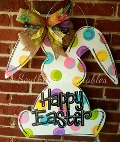 Hey, I found this really awesome Etsy listing at https://www.etsy.com/listing/500718208/happy-easter-bunny-door-hanger-spring