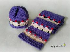 Free Crochet Patterns - Cupcake Lovers Beanie and Scarf Set is surprisingly easy and quick to work up! So quick in fact, that you can make a handful of these Cupcake Lovers Beanies in a weekend. Imagine the different colors you can do. (Why does my brain always go to chocolate?) Try using buttons for the cherries instead of crocheting. How about sprinkles?