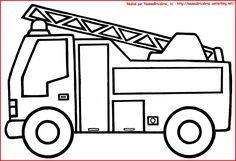 """Résultat de recherche d'images pour """"coloriage camion de pompier a imprimer gratuit"""""""