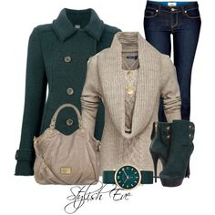 Stunning green coat... Love it.
