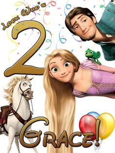 Personalized Custom Birthday T-shirt Disney Rapunzel Tangled #2