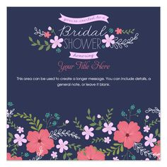 Garden Bridal Shower Navy by Alisse Courter