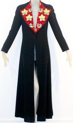 Schiaparelli - Manteau Maxi - Velours et Perles - Harper's Bazaar - 1936
